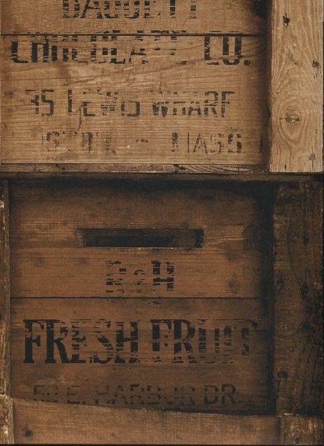 Reclaimed Industrial Chic Wallpaper Wood Crates 2701 22348