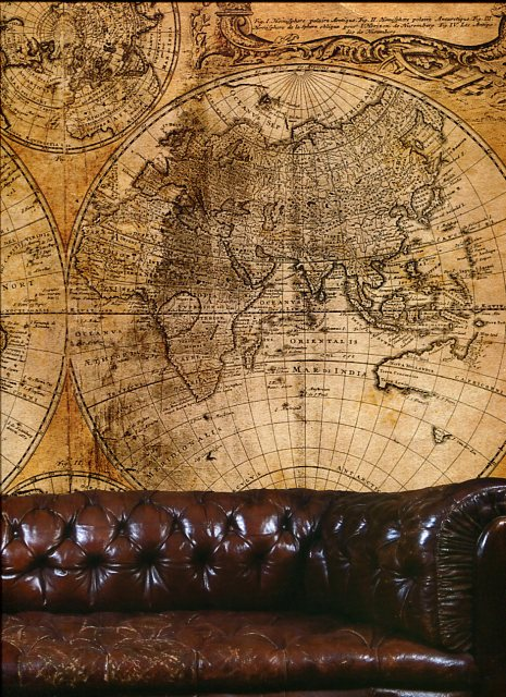 Steampunk Wall Mural Map Small G By Galerie